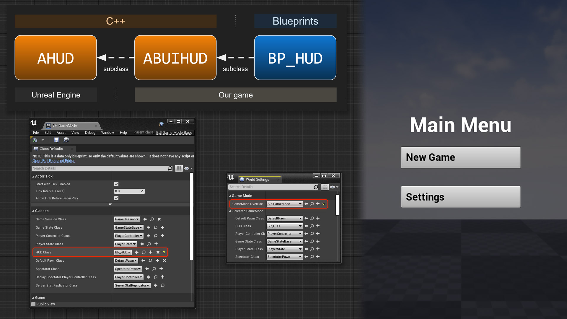 How to set up UI in a UE4 project